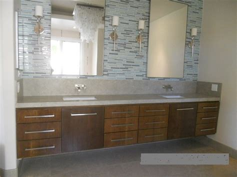 long bathroom vanity extra long white oak floating double sink vanity