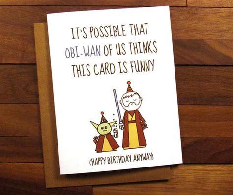 funny birthday card star wars birthday card  drink