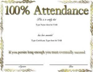 100 attendance certificate template award certificate templates