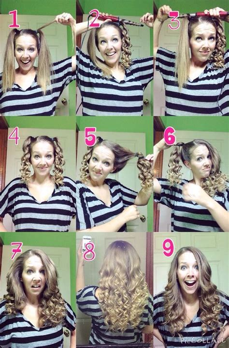 bridesmaid hairstyles useing a curling wand quick and easy curls using a curling wand curl each
