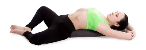 Reclining Bound Angle Pose by 8 Healing Restorative Poses For A Healthy Mind