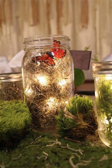 nature themes jar 30 woodland wedding table d 233 cor ideas deer pearl flowers
