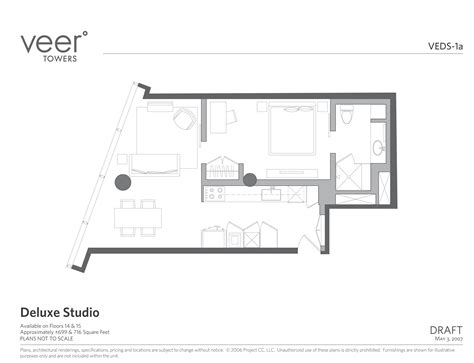 veer towers floor plans veer towers deluxe studio floorplan copy las vegas