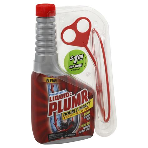 liquid plumr for kitchen sinks liquid plumr professional strength impact 18 oz