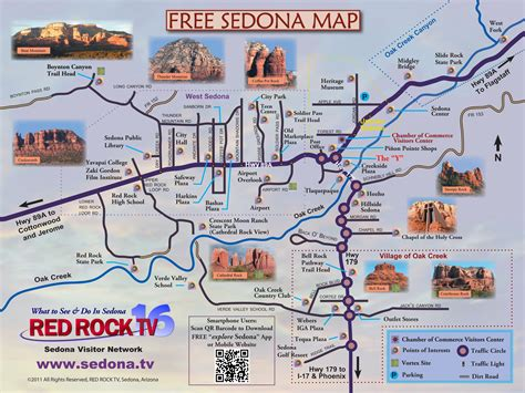 sedona az map map of sedona featured on sedona tv your 1 guide to sedona