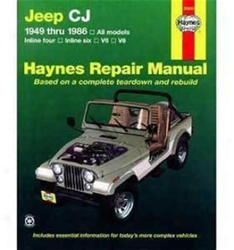 Jeep Repair Jeep Repair Manual From Haynes Haynes Is The