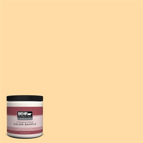 behr premium plus ultra 8 oz icc 41 butter cookie interior exterior paint sle icc 41u the