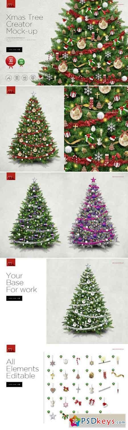 christmas tree creator mock up 418080 187 free download