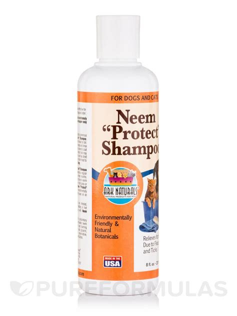 neem for dogs neem protect shoo for dogs and cats 8 fl oz 237 ml