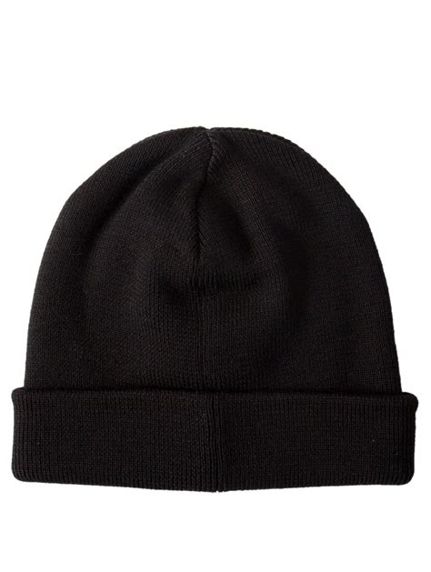 white knitted beanie hat raf simons knitted beanie hat black in white for lyst