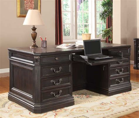 Grand Manor Furniture by House Grand Manor Palazzo Pedestal Executive Desk Gpal 9080 3 Homelement