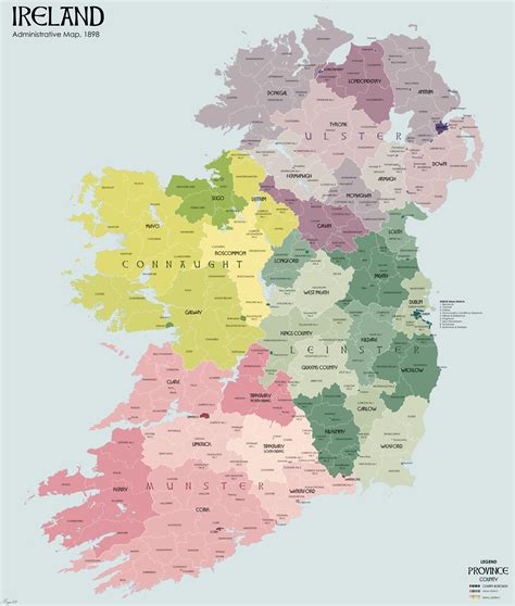 map of showing counties maps of ireland counties and towns