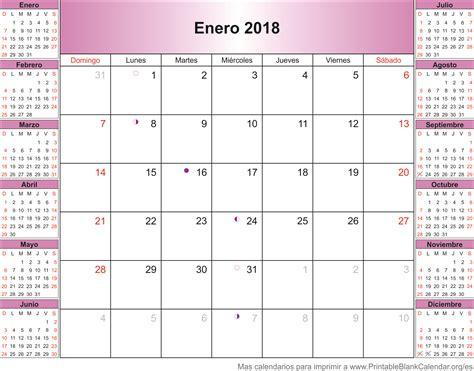Calendario 2018 Enero Calendario Enero 2018 Calendarios Para Imprimir