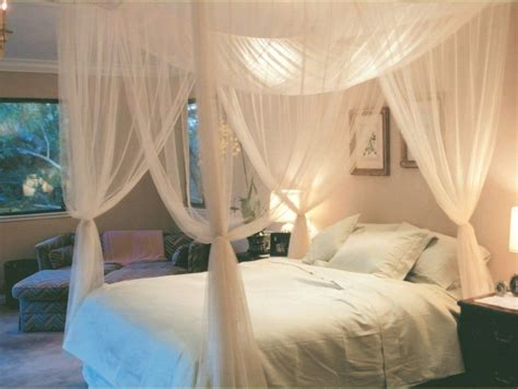 2015 four corner post bed white canopy mosquito net full