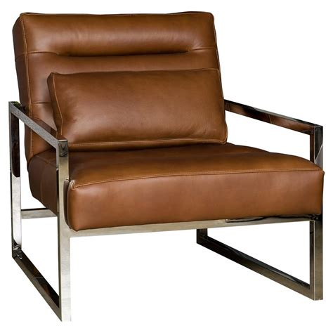 steel armchair cadena loft masculine brown leather steel armchair kathy kuo home