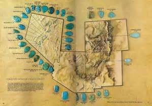 arizona turquoise mines map all my a gem of a map