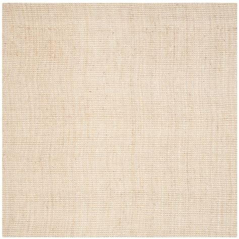 9 foot square rug safavieh fiber ivory 9 ft x 9 ft square area rug nf730a 9sq the home depot