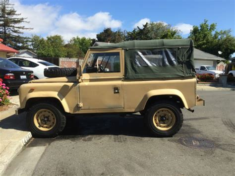 land rover desert land rover defender suv 1986 desert sand for sale