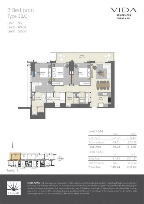 dubai mall floor plan floor plans vida residences dubai mall dubai off plan