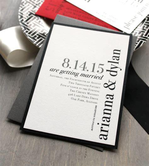 20 contemporary wedding invitation exles bonfx