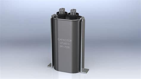 capacitor 591 7030 27l6013 660 vac solidworks 3d cad model grabcad