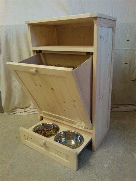 pet feeding station cabinet pet food cabinet storage organizer dog cat feeding