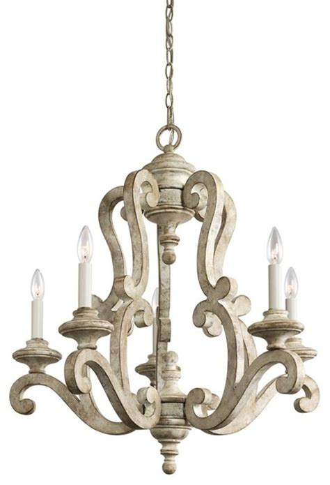 Distressed White Chandelier Traditional Country Antique White Distressed Chandelier Kichler 43256daw Traditional