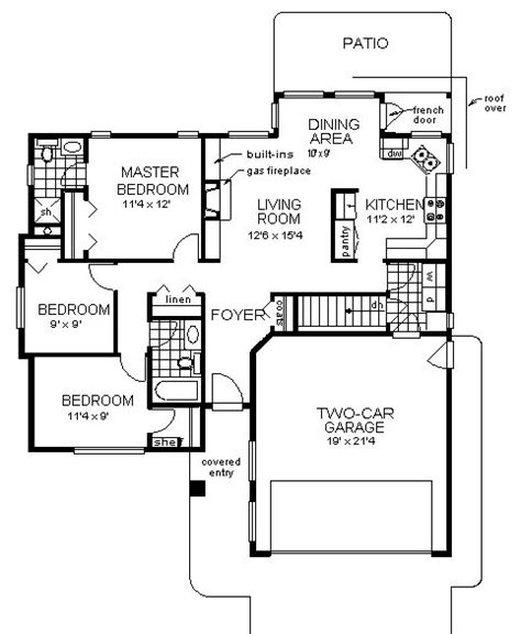modifying house plans first floor of plan id 1015 move stove across from sink modify mb eliminate basement and make