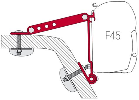 Fiamma Awning F45 Accessories by Fiamma F45 Awning Adapter Kit Kit Wall Adapter Awning