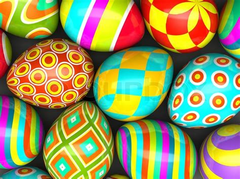 painting easter eggs colorful painted easter eggs stock photo colourbox