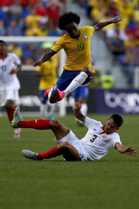 Brazilia Costa Rica Willian Photos Photos Costa Rica V Brazil Zimbio