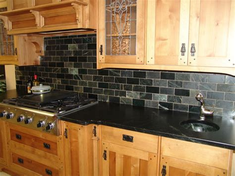 slate tile kitchen backsplash brown slate rustic kitchen backsplash tile design ideas