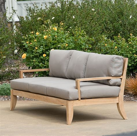 teak outdoor sofa teak outdoor furniture williams sonoma