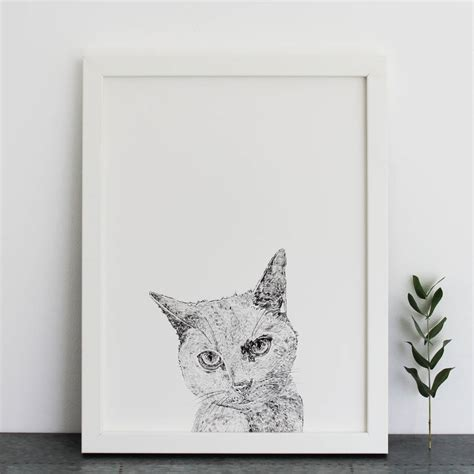 Cat Print cat print by ros shiers notonthehighstreet