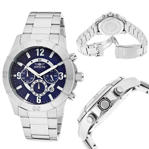Steel Blue List Silver s and s invicta watches