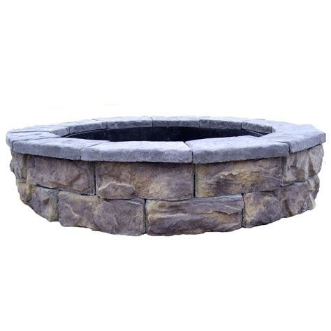 Home Depot Firepits Fossill Limestone Pit Kit Shopyourway
