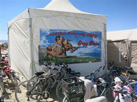 Burning Man Orgy Tent | visitors to burning man s orgy dome share what it s