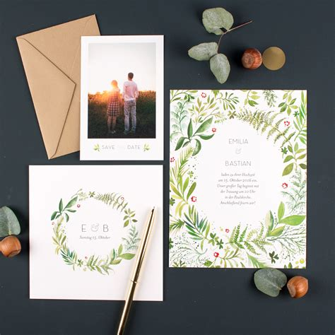 Hochzeitseinladung Natur by Save The Date Und Einladung Welcher Text F 252 R Die