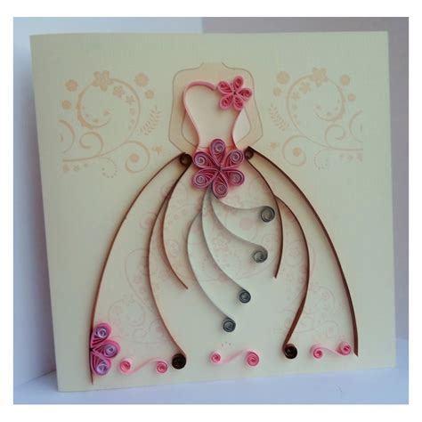 Wedding Card Pattern by 10 Pcs Wedding Card With Quilling Dress Pattern Custom