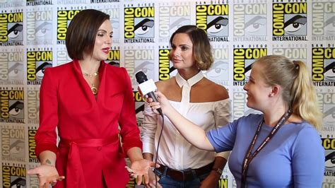 lana parrilla interview youtube lana parilla and gabrielle anwar interview at sdcc 2017