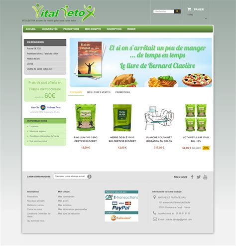 Detox Site Org site e commerce detox freelance prestashop