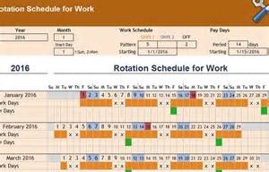 Rotating Schedule Template by Rotation Schedule Template