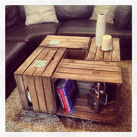 4 Crate Coffee Table How To Build A Crate Coffee Table Diy Projects For Everyone