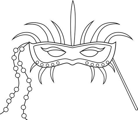 Masker Line mardi gras masks coloring pages