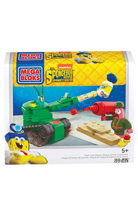 Mega Set Setelan Polos mega bloks spongebob pickle tank attack set