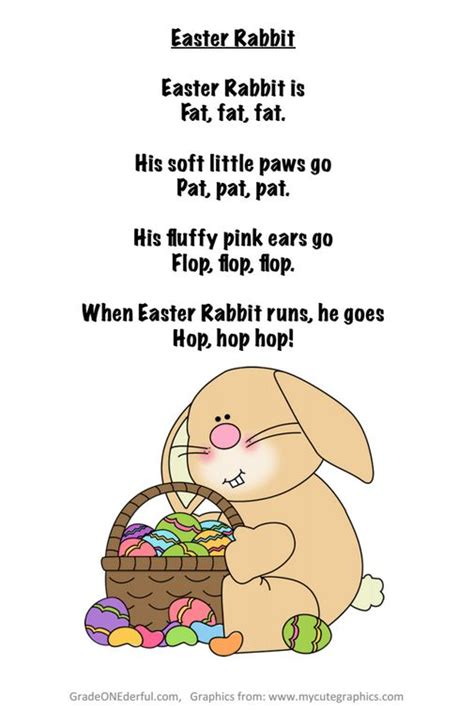 The Rhyming Rabbit easter rabbit poem free from grade onederful hippty hoppty easter s on it s way