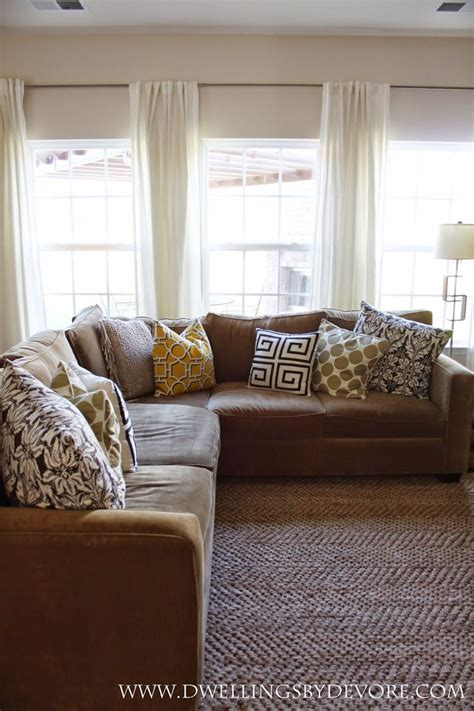 brown curtains for living room we have these rods and curtains in our living room like