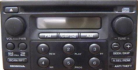 1998 honda accord radio code honda accord car stereo cd changer repair and or add an