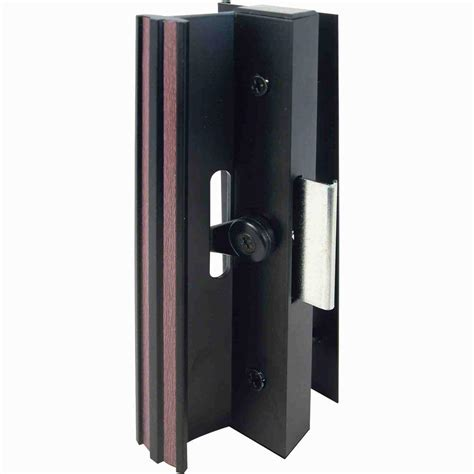 Sliding Glass Door Latches Prime Line Surface Mounted Sliding Glass Door Handle With Cl Type Latch Black C 1006 The