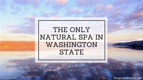 Detox Spas In Washington State by The Only Spa In Washington State Soap Lake